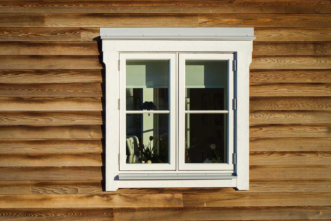 Ekviken villa detaljbild fönster